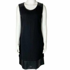 Teri Jon Sportswear Leather Trim Sheath Dress 8